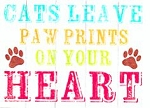 Cat Sympathy Card, Cats Leave Paw Prints On Your Heart