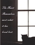Cat Sympathy Card, The Heart Remembers