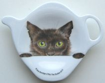 Cat Tea Bag Holder, Peeping Felines