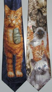 Cat Tie, Cat And Mouse Or Many Cats