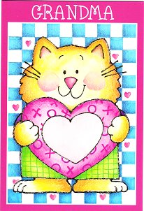 Cat Valentine Card, Grandma