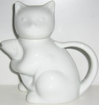 Collectible Cat Creamer, Cat With Fish