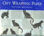 Cat Gift Wrap, Black Cat, Vogue