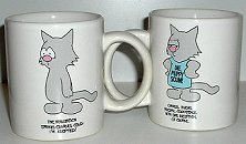 Charles The Cat Coffee Mug, Adopted Or Coexistence