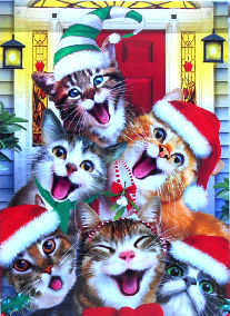 Christmas Cats Flag, Mini