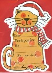 Christmas Cat Thank You Notes