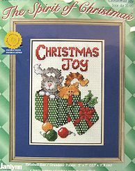 Christmas Counted Cross Stitch, Cats, Christmas Joy