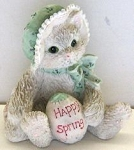 Cat Figurine, Happy Spring