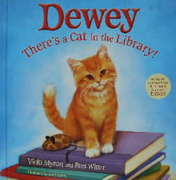 Collectible Cat Book, Dewey, There's A Cat In The Library
