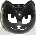 Collectible Cat Bowl, Smiling Black Cat