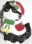Collectible Cat Christmas Candle Holder