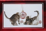 Collectible Cat Christmas Cards, Frisky & Festive