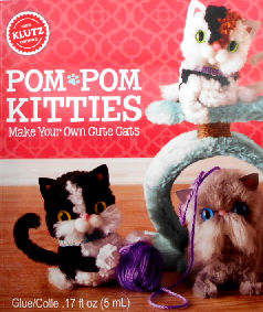 Collectible Cat Craft Kit, Pom Pom Kitties