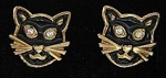 Collectible Avon Cat Earrings, Black Cat Faces