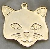 Collectible Cat Face Charm, Large