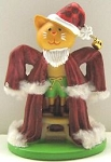 Collectible Cat Figure, Cat With Santa Suit