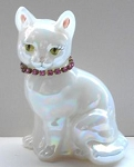 Collectible Cat Figurine, Fenton Glass,  Sitting Cat