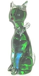 Collectible Green Glass Cat