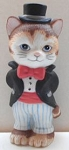 Collectible Cat Figure, Top Hat