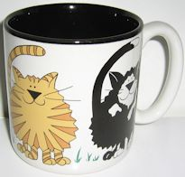 Collectible Cat Mug, Cat Walk