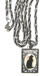 Collectible Cat Necklace, Black Cat