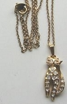 Collectible Cat Necklace, Gold Tone Cat, Avon