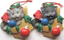 Collectible Cat Ornament, Black Cat In A Box