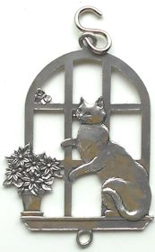Collectible Cat Ornament, Cat In Window