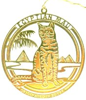 Collectible Cat Ornament, Egyptian Mau Cat