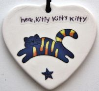 Collectible Cat Ornament, Here Kitty, Kitty, Kitty