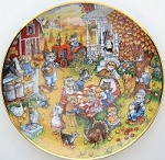 Collectible Cat Plate, A Purrfect Feast, Bill Bell