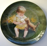 Collectible Cat Plate, Cone For Two