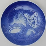Collectible Cat Plate, Mother's Day '71