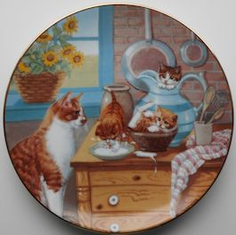 Collectible Cat Plate, Table Manners