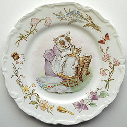 Collectible Cat Plate, Tom Kitten