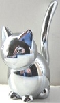 Collectible Cat Ring Holder, Round Cat