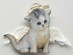 Collectible Christmas Cat Ornament, Misty