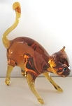 Collectible Glass Cat, Tail In Air