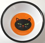 Collectible Halloween Cat Bowl, Cat Face, Melamine