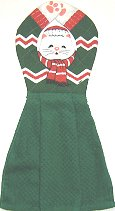 Collectible Cat Kitchen Towel, Santa's Helper