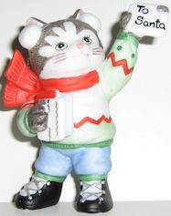 Collectible Kitten Ornament, Letter To Santa