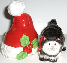 Collectible Kitty Claus Salt And Pepper, Fitz And Floyd