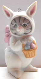 Collectible Kitty Cucumber Ornament, Easter Rabbit