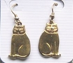 Collectible Cat Earrings, Laurel Burch, Sitting Cats