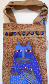 Collectible Laurel Burch Tote, Three Cats