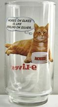 Collectible Morris The Cat Drinking Glass