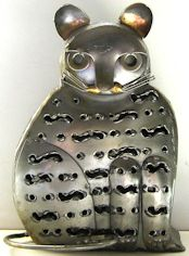 Collectible Outdoor Metal Cat Candle Holder