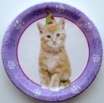 Cuddly Kitten Paper Plates, Small