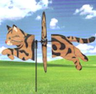 Garden Spinner, Brown Tabby Cat