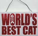 Cat Sign Or Ornament, World's Best Cat